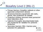 biosafety level 2 bsl 215