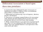 differential association is based upon these nine postulates