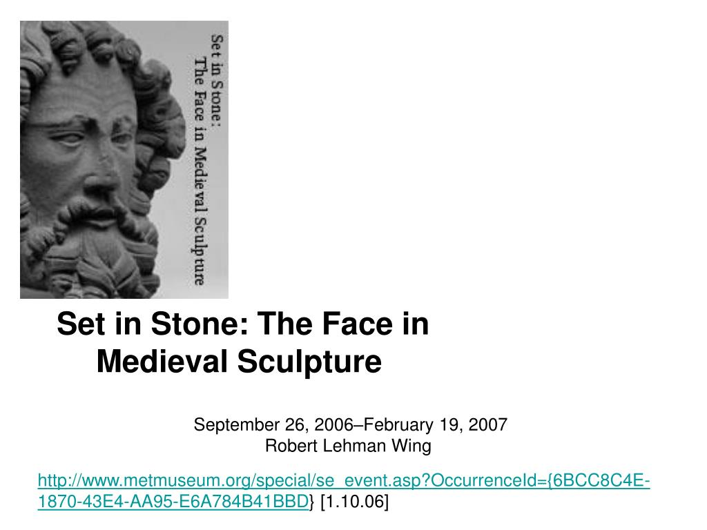 set in stone the face in medieval sculpture l.