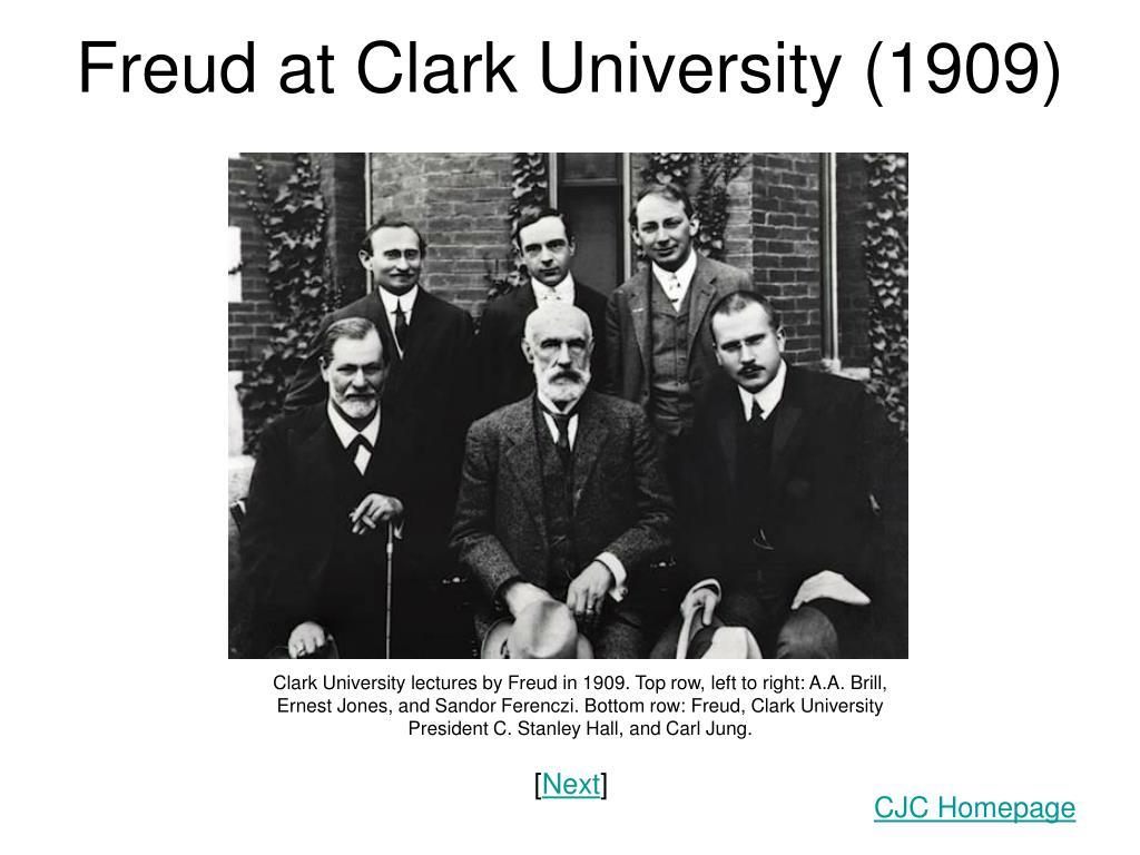freud at clark university 1909 l.