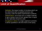limit of quantification