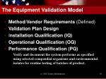 the equipment validation model