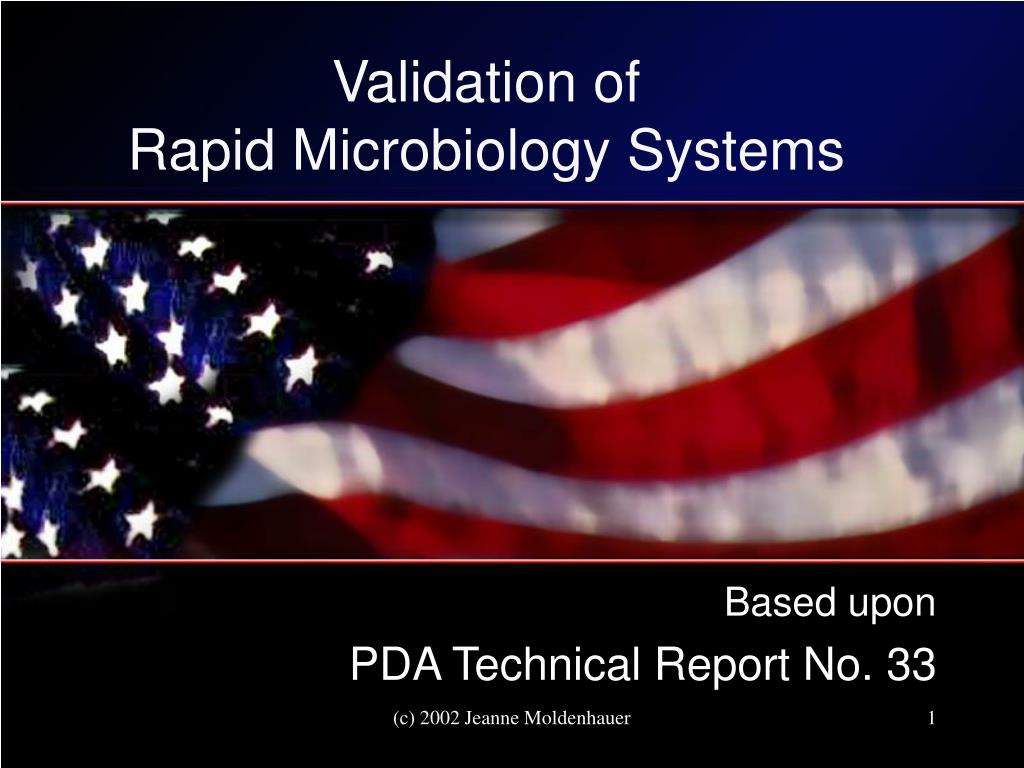 validation of rapid microbiology systems l.
