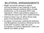 bilateral arrangements