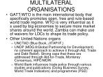 multilateral organisations
