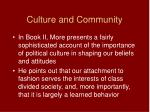 culture and community