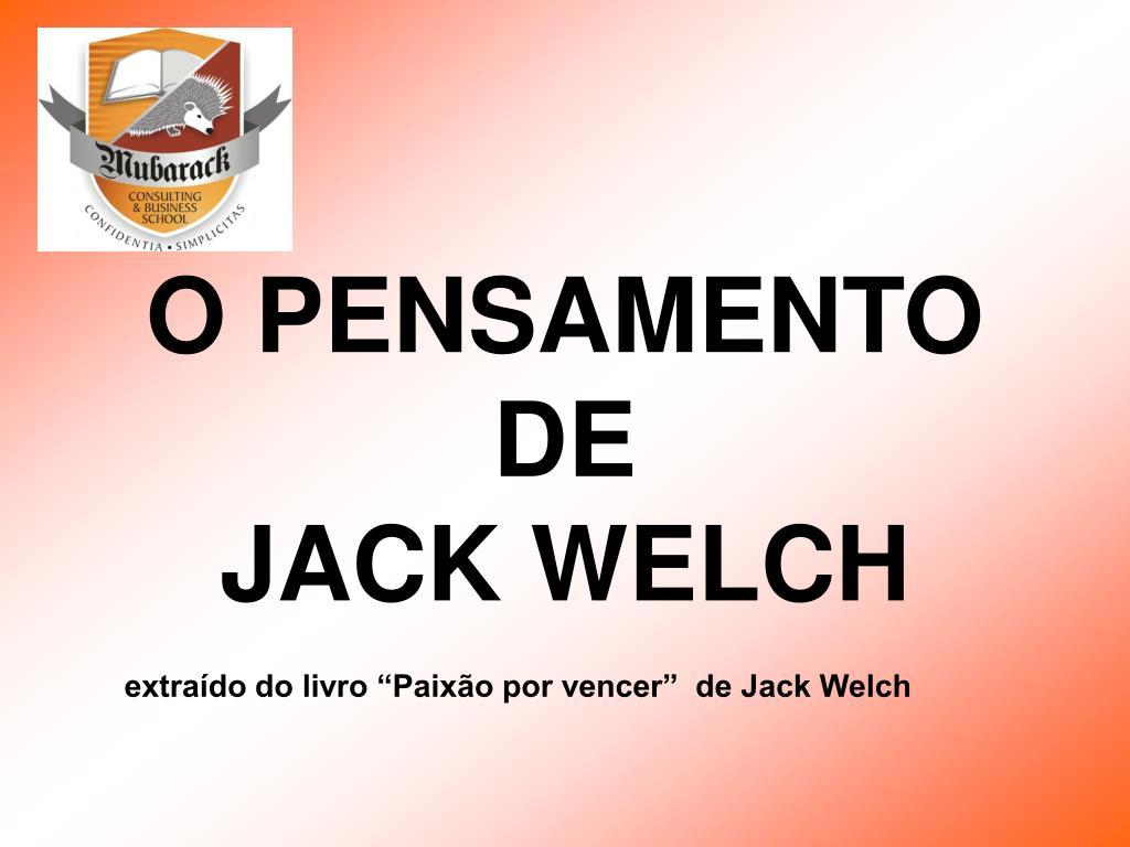 o pensamento de jack welch l.