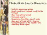 effects of latin america revolutions