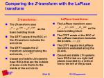 comparing the z transform with the laplace transform
