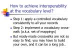 how to achieve interoperability at the vocabulary level