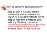 how to achieve interoperability