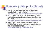 vocabulary data protocols only