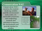 conservation sae