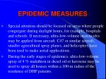 epidemic measures132