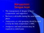 management dengue fever94