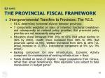 q2 cont the provincial fiscal framework