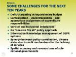 q3 cont some challenges for the next ten years