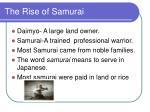 the rise of samurai