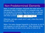 non predetermined elements32