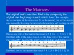 the matrices5