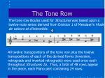 the tone row