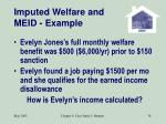 imputed welfare and meid example