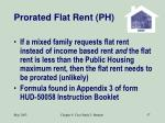 prorated flat rent ph