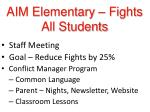 aim elementary fights all students