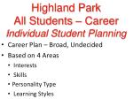 highland park all students career individual student planning