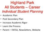 highland park all students career individual student planning12