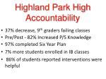 highland park high accountability