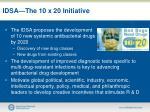 idsa the 10 x 20 initiative