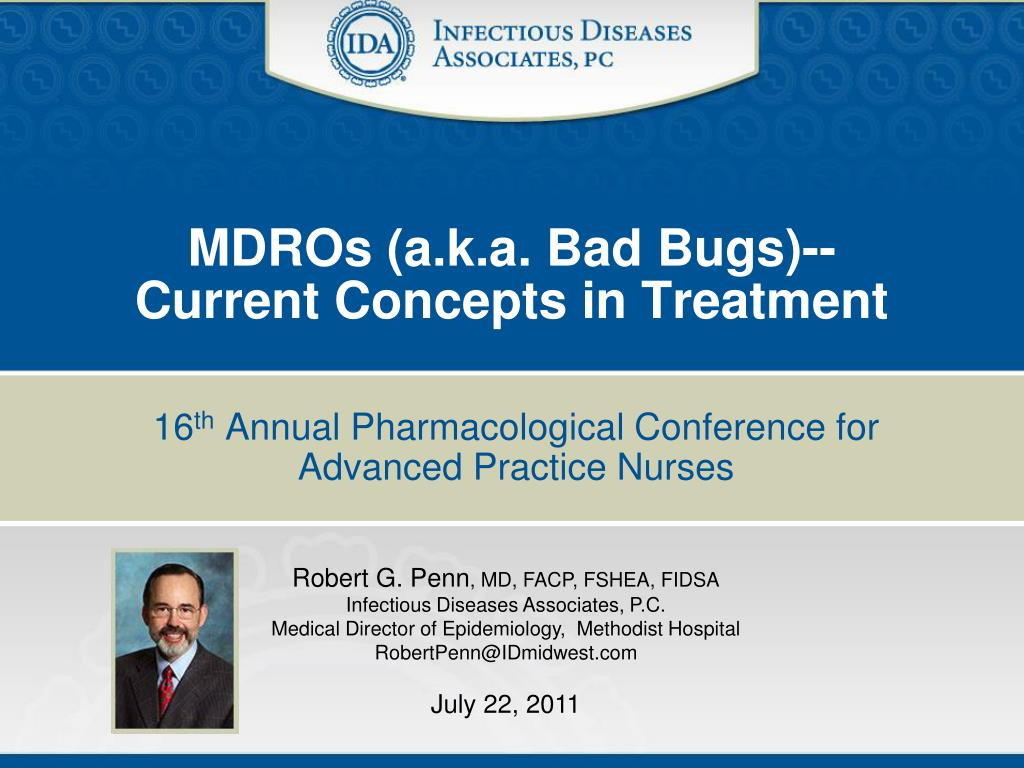 mdros a k a bad bugs current concepts in treatment l.
