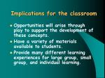 implications for the classroom38