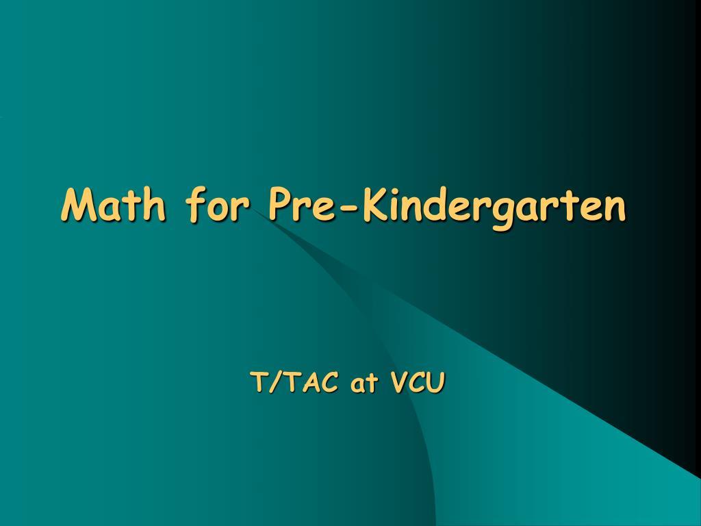 math for pre kindergarten l.