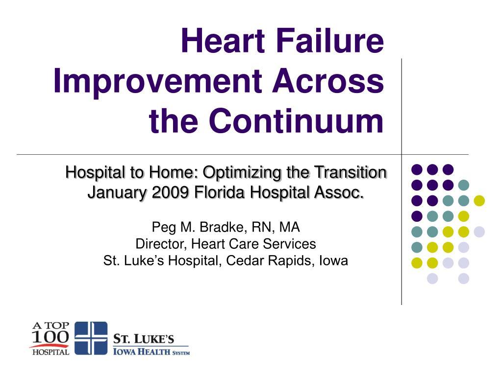 heart failure improvement across the continuum l.