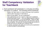 staff competency validation for teachback39
