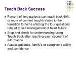 teach back success