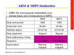 arm mips similarities