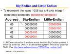 big endian and little endian