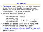 big endian