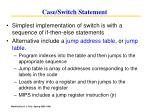 case switch statement