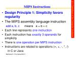 mips instructions
