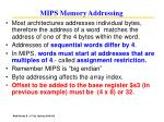 mips memory addressing