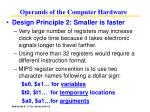 operands of the computer hardware19