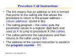 procedure call instructions111