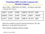translating mips assembly language into machine language90