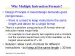 why multiple instruction formats