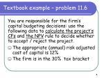 textbook example problem 11 6