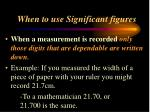 when to use significant figures